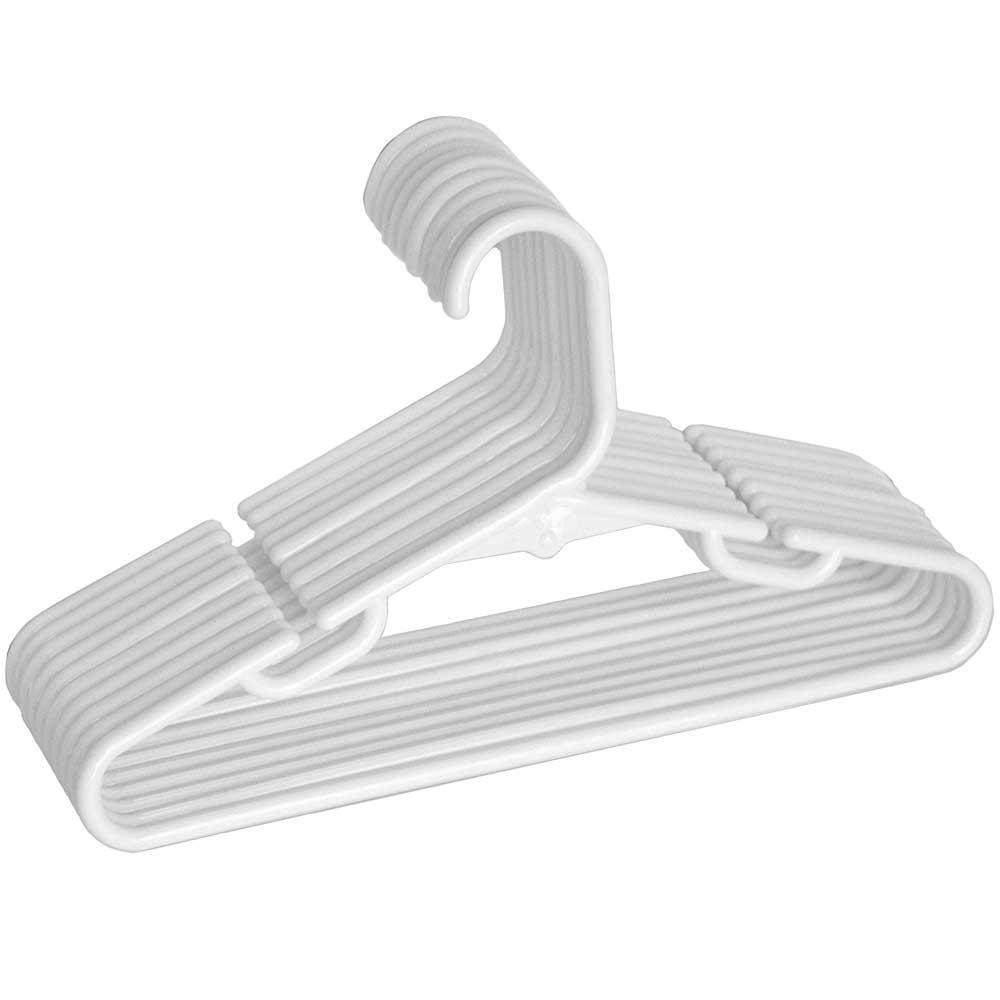 Kids Plastic Hangers White Set Of 10 In Plastic Hangers