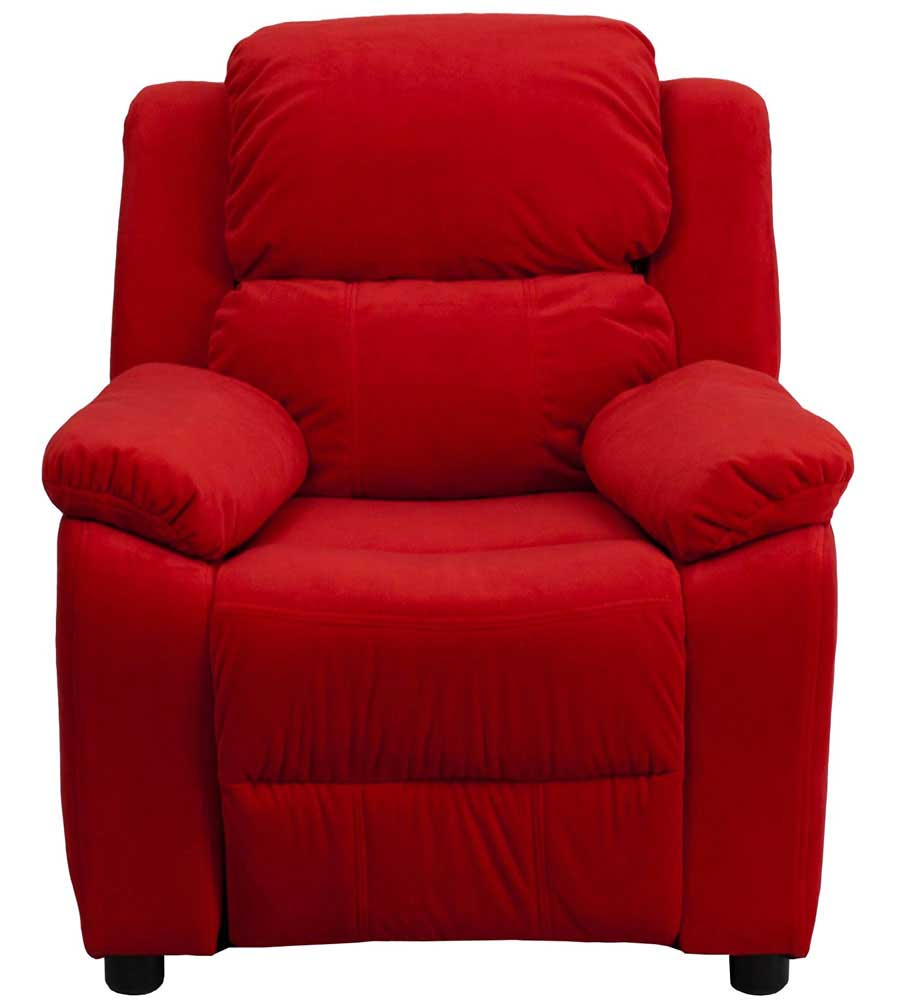 Kids Recliner With Storage Arms In Kids Lounge Chairs