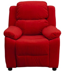 Kids Recliner with Storage Arms Image