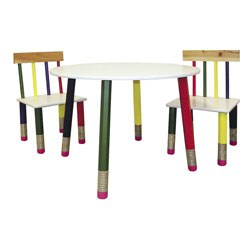 Kids Table 3-Pc. Set - White Table by O.R.E. Image