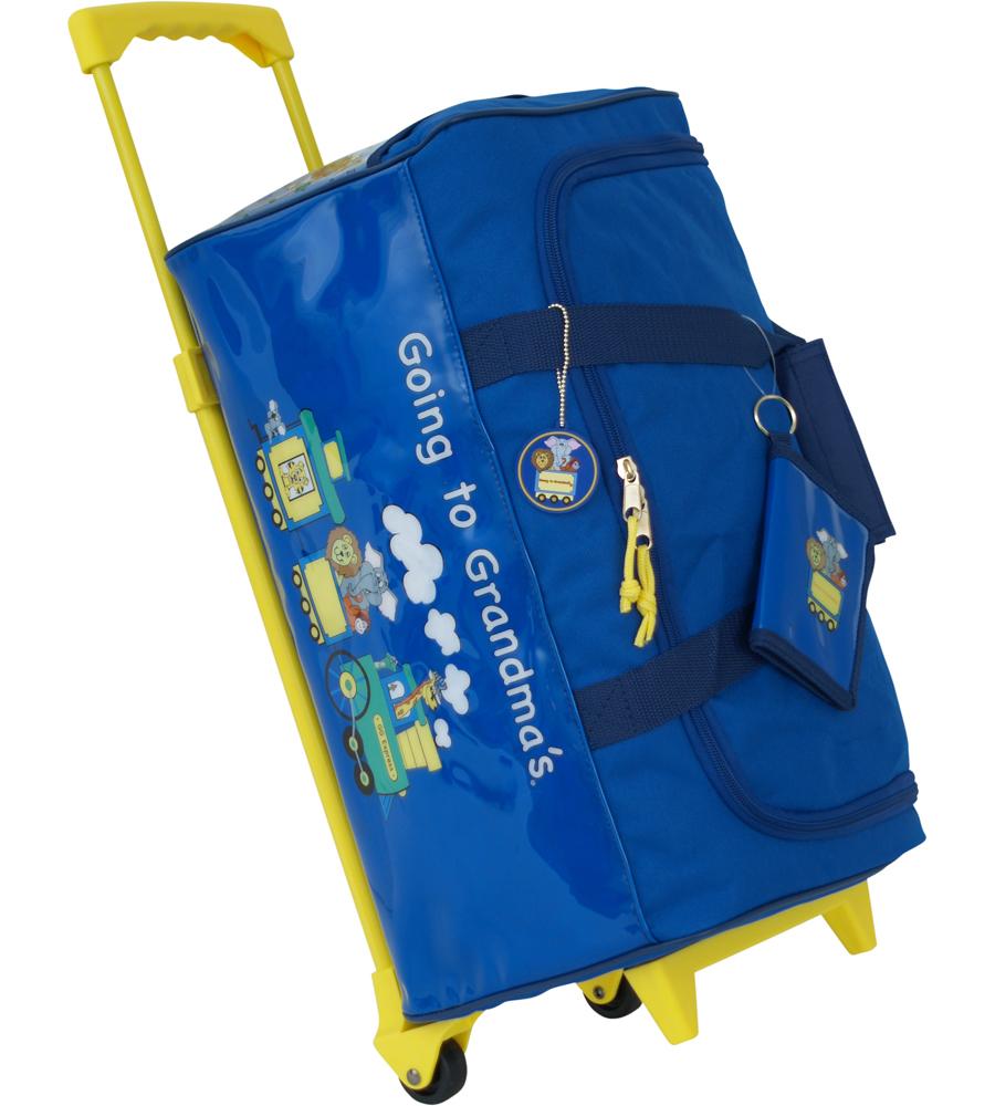 toddler wheeled bag going to grandmas image