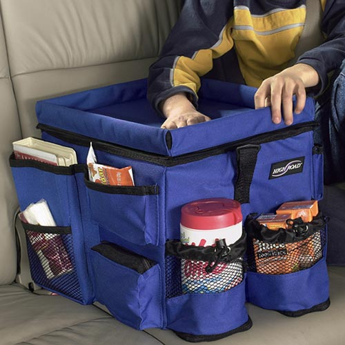 kids backseat auto organizer blue image