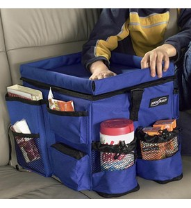 Kids Backseat Auto Organizer - Blue Image