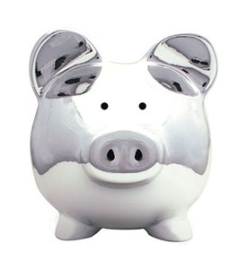 Adorable Piggy Bank - Chrome Image