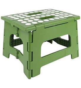 Kikkerland EasyFold Green Step Stool - 8.5 Inches Image