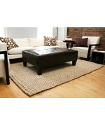 Kilimanjaro Hand-Braided Jute Area Rug by Anji Mountain