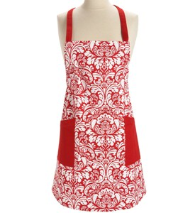 Kitchen Apron - Red Damask Image