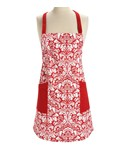 Kitchen Apron - Red Damask