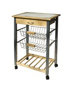 Kitchen Cart with Baskets by Neu Home