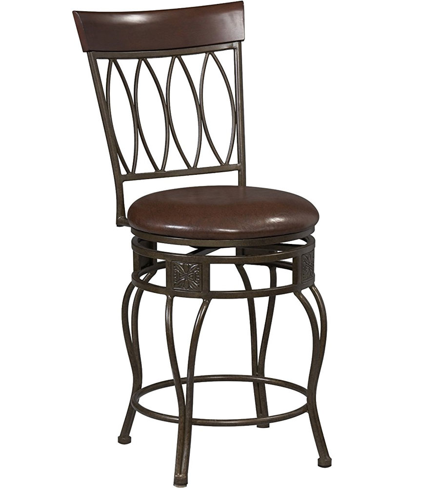 Kitchen Counter Stool Oval In Metal Bar Stools