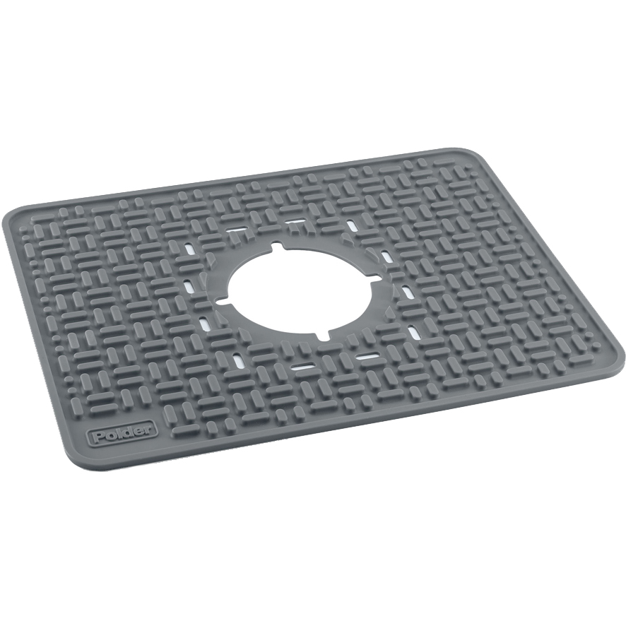 Stainless Sink Grid With Drain Hole · Kitchen Sink Mat