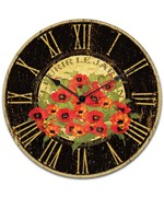 Kitchen Wall Clock - Red Poppy