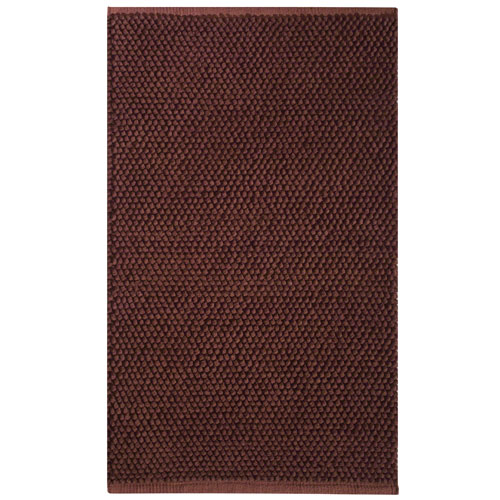 Knoti cotton accent rug chocolate brown in accent rugs for Chocolate brown bathroom rugs