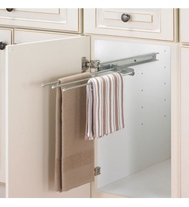 Cabinet Pull-Out Towel Bar - Chrome Image