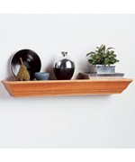 Floating Wood Shelf - 24 Inch