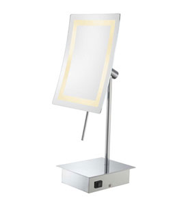 Rectangular Vanity Mirror With Lights : LED Rectangular Lighted Vanity Mirror in Vanity Mirrors