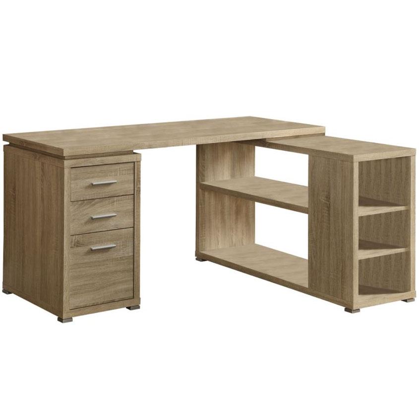 l shaped desk reclaimed wood