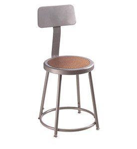 Steel Lab Stool With Back Rest Image
