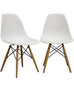 LAC Plastic Side Chair Set Of Two By Wholesale Interiors Inc