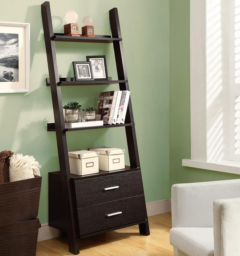 Leaning Ladder Bookcase Ladder Bookcase With Storage