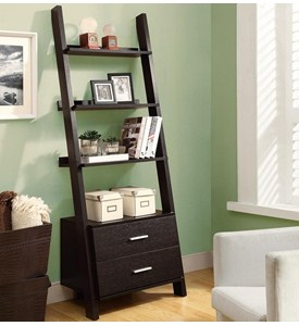 Ladder Bookcase with Storage Drawers Image
