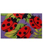 Decorative Coir Doormat - Ladybugs