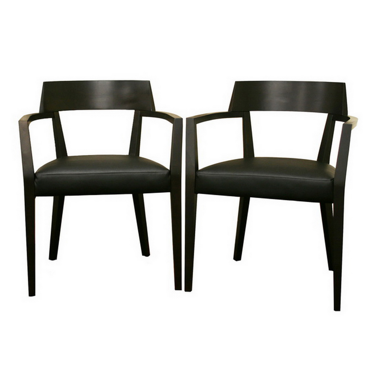 Modern Wooden Dining Chairs ~ Laine wenge wood and faux leather modern dining chair