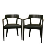 Laine Wenge Wood and Faux Leather Modern Dining Chair - Set of 2