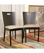 Lamar Dark Brown Modern Dining Chair - Set of 2 - by Wholesale Interiors - CB-2712YBH-DW10