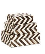 Lanta Bone Inlay Boxes - Set of 3 by Imax