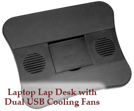 Computer Lap Desk with Dual USB Fan