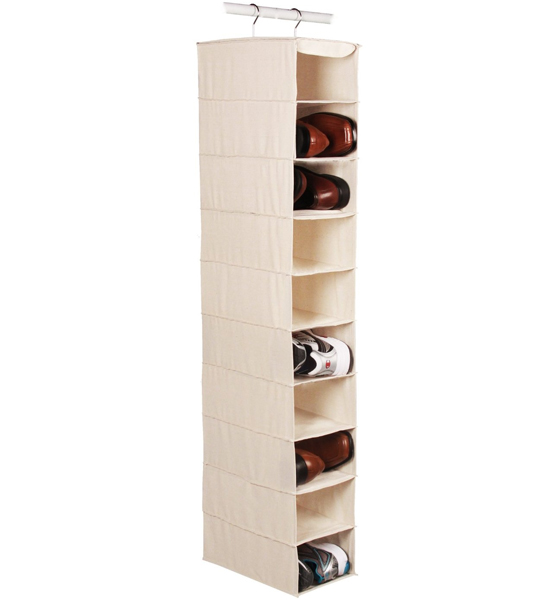 Captivating Large Hanging Closet Shoe Organizer   10 Pocket Image