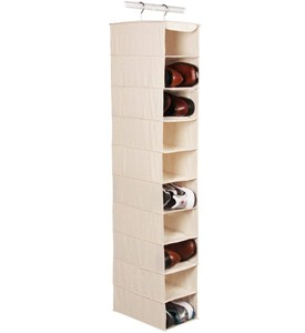 Large Hanging Closet Shoe Organizer - 10 Pocket Image