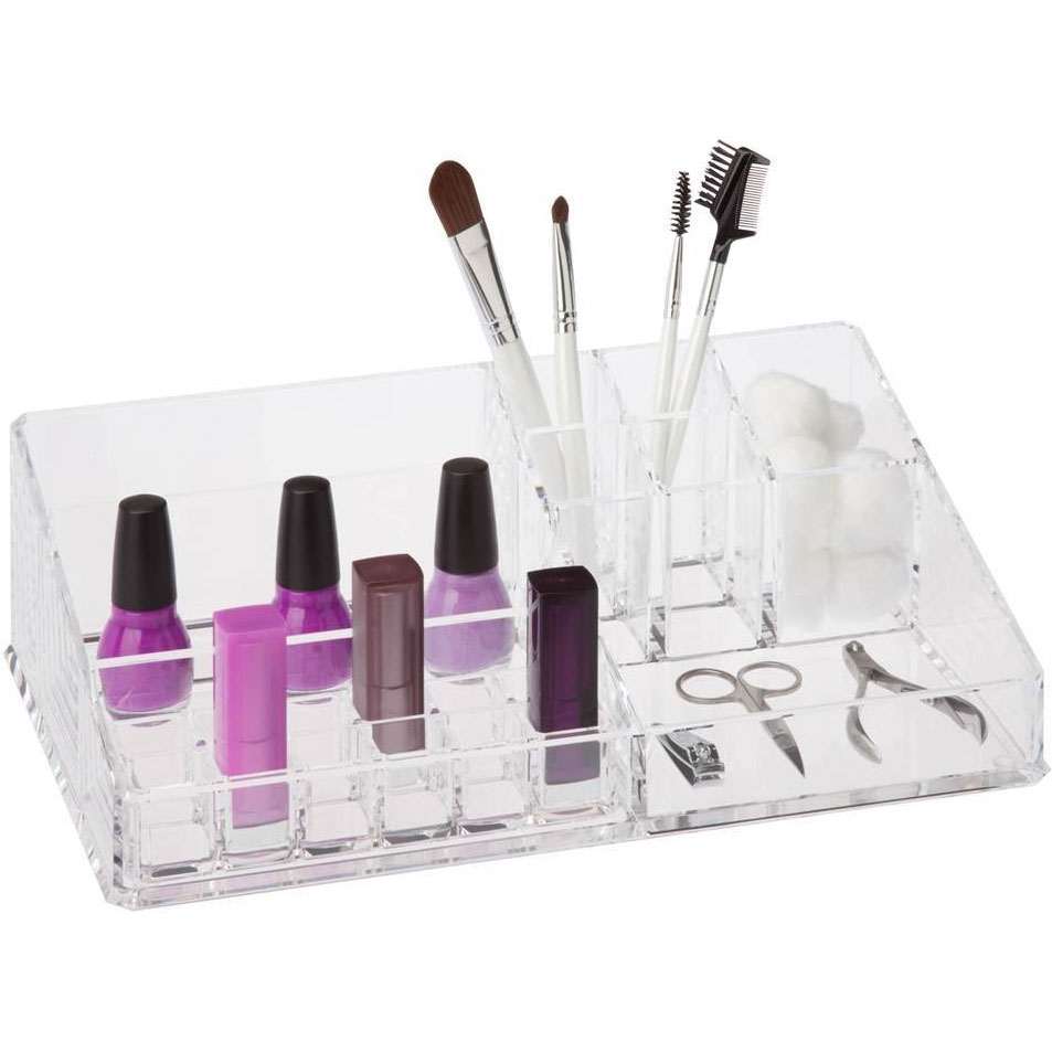 Acrylic Makeup Cosmetic Storage Box Organizer Brush Holder