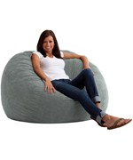 Large Bean Bag Chair - Suede
