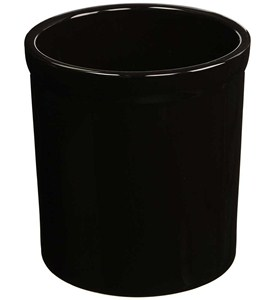 Large Ceramic Kitchen Utensil Holder - Black Image
