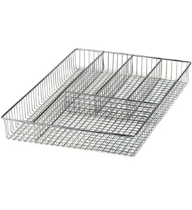 Large Chrome Grid Flatware Organizer Image
