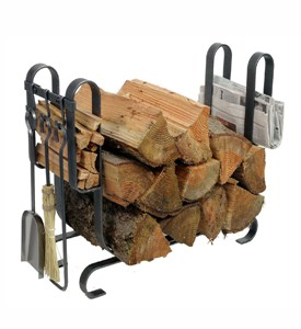 Large Firewood Rack with Tools Image