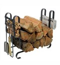 Large Firewood Rack with Tools