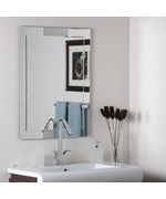 Large Frameless Wall Mirror