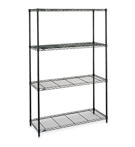 Large InterMetro Four-Shelf Unit - Black Image