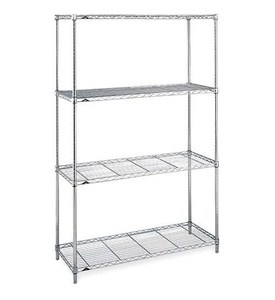 Large InterMetro Four-Shelf Unit - Chrome Image