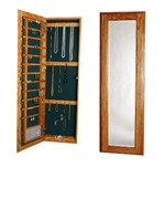 Large Wall Mounted Jewelry Cabinet - Keyed Lock