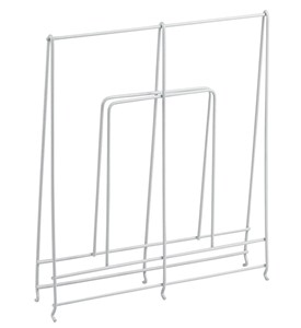 Large White Wire Shelf Divider Image
