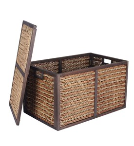 Large Wicker Storage Trunk Image