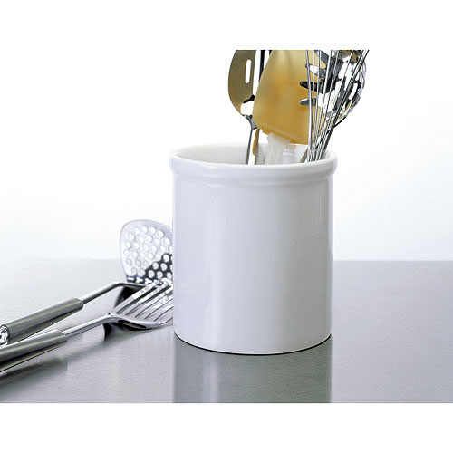 Large Ceramic Kitchen Utensil Holder - White in Kitchen Utensil