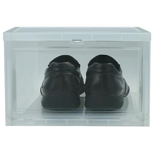 Iris drop-front shoe box