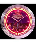 Las Vegas Strip Neon Clock by Neonetics