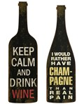 Lasalle Wine And Champagne Wall Decor - Set of 2 by Imax