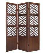 Lattice Style Wood Room Divider